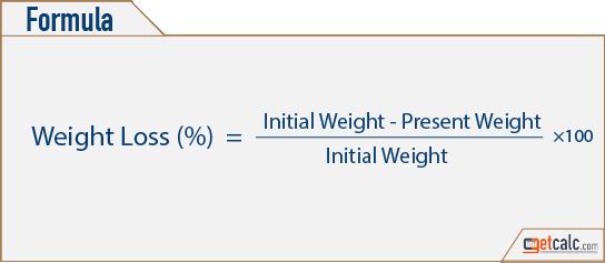 Formule de perte de poids