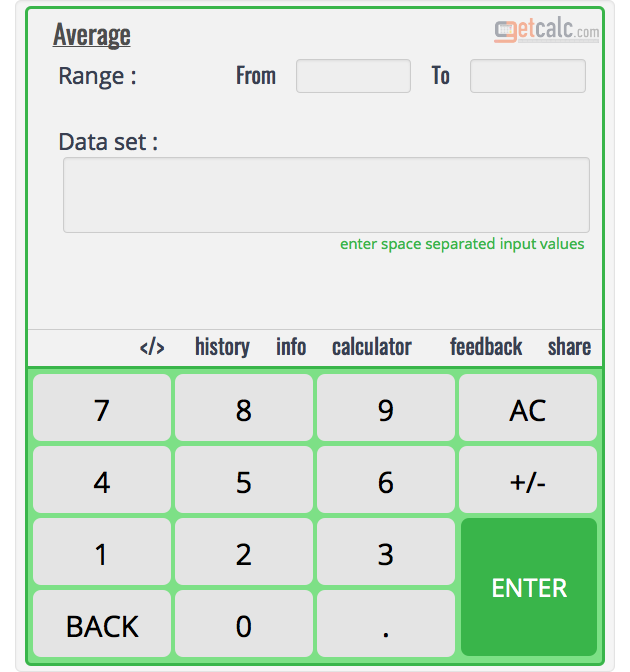 Average Calculator