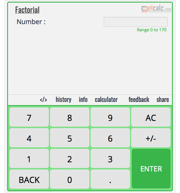 Factorial Calculator