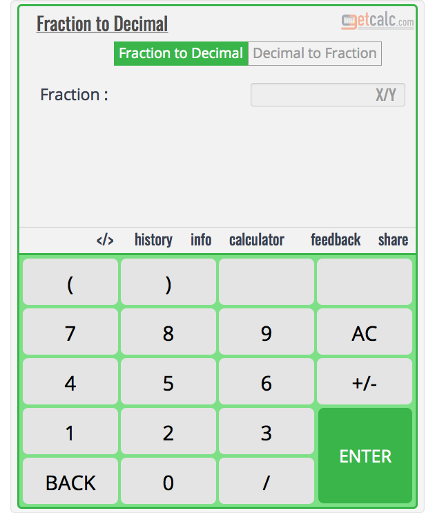write a decimal as a fraction calculator