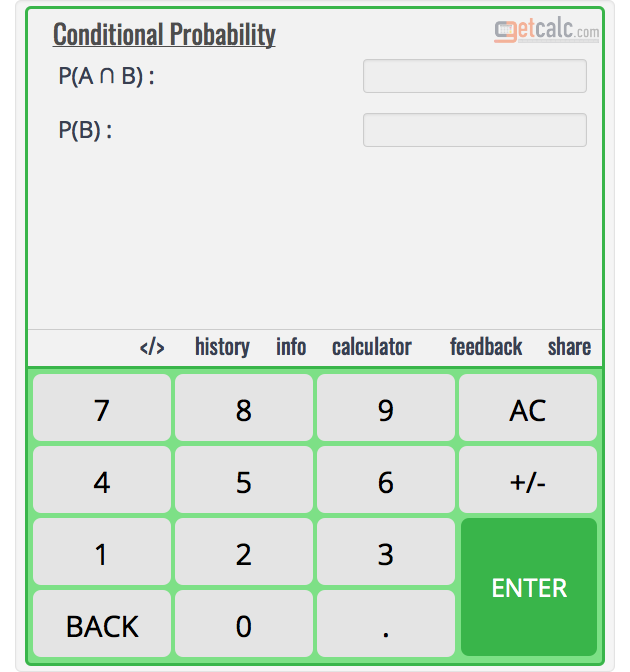 Conditional Probability Calculator