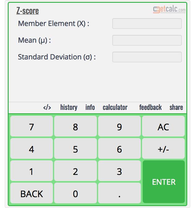 Standard Normal Variate (Z-Score) Calculator