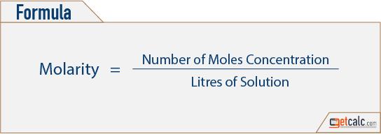 Molarity Formula