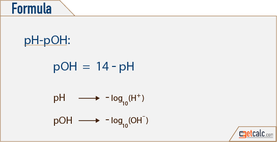 pH to pOH conversion formula