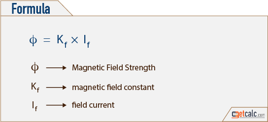 magnetic field strength formula