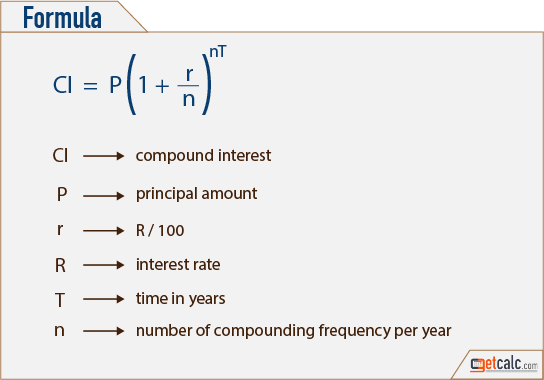 CI - compound interest formula