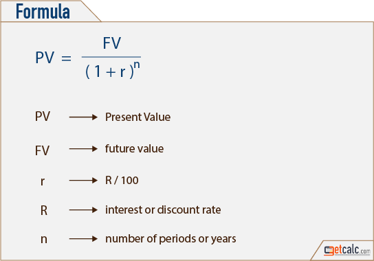 PV - present value formula