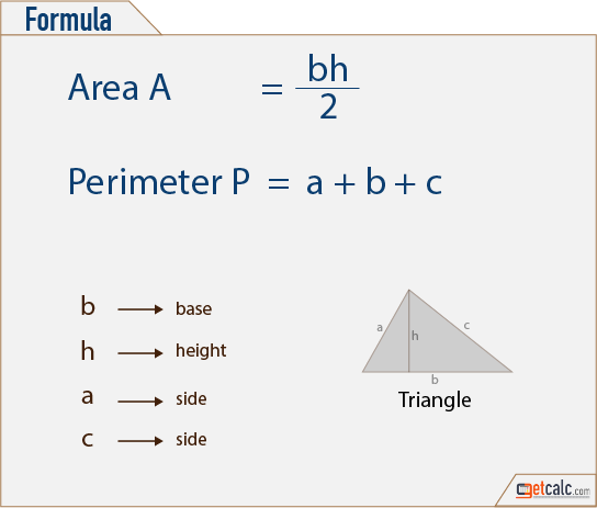 area of triangle formula