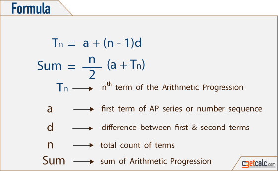 AP - Arithmetic Progression Calculator