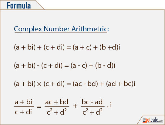 Complex Numbers Arithmetic Calculator