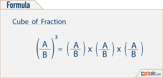 Formula to find cube of fractions
