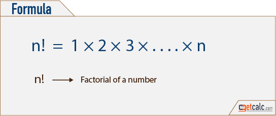 factorial of a number formula