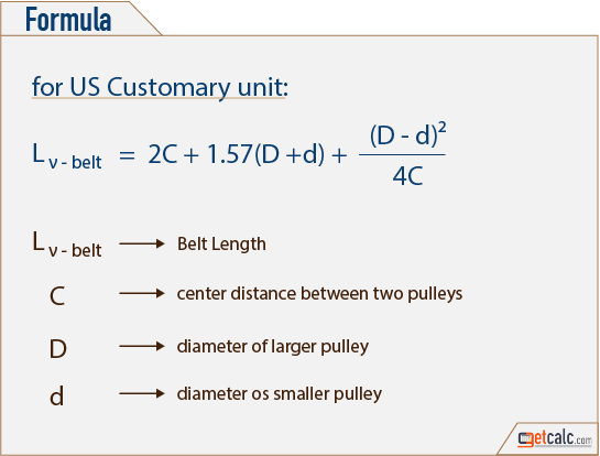 Belt Length Calculator