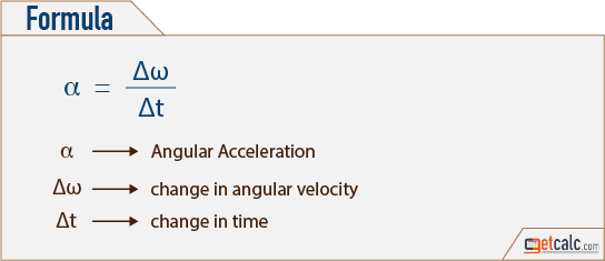 Angular Acceleration Formula