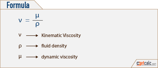 Kinematic Viscosity Formula