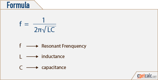 Resonant Frequency formula
