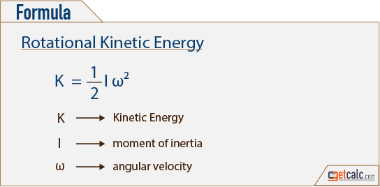 Rotational Kinetic Energy Formula