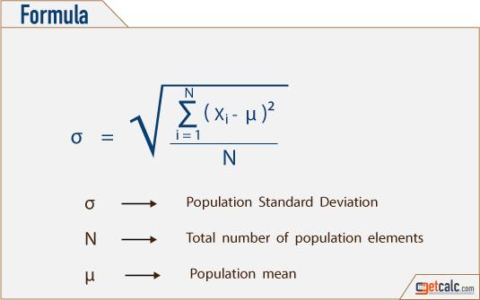 Population Standard Deviation S Calculator