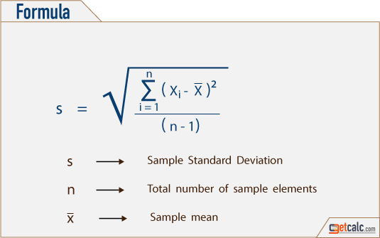 Formula to Calculate Sample Standard Deviation
