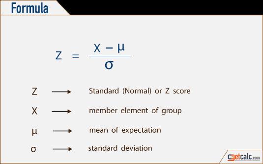 z score formula standard error  Standard Normal Variate (Z-Score) Calculator