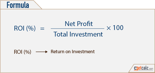 ROI - return on investment formula